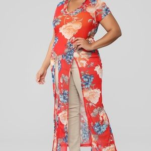 Forever blooming maxi top